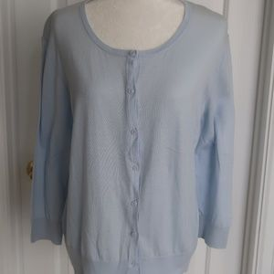 Ann Taylor XL Powder Blue Cardigan